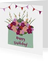 Felicitatiekaart Bloemen uit envelop