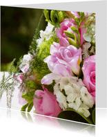 Felicitatiekaart bruidsboeket