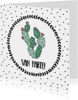 Felicitatiekaart Cactus - WW