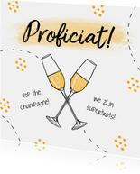 Felicitatiekaart champagne cheers hip illustratie