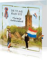 Felicitatiekaart De vlag kan uit, hartelijk gefeliciteerd!
