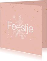 Felicitatiekaart - Feestje - flowers