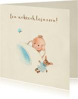 Felicitatiekaart geboorte - Achterkleinzoon met vlinder