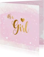 Felicitatiekaart Geboorte its a Girl