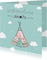 Felicitatiekaart geboorte jongetje - Adventure Awaits