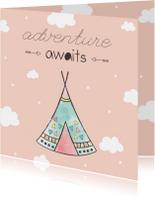Felicitatiekaart geboorte meisje - Adventure Awaits