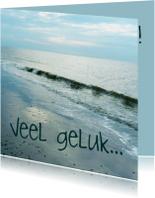 Felicitatiekaart huwelijk strand en zee
