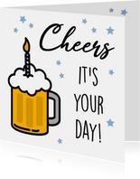 Felicitatiekaart met bier