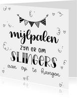 Felicitatiekaart - Mijlpalen