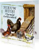 Felicitatiekaarten - Felicitatiekaart Nieuwe Woning 'Kippenhok'