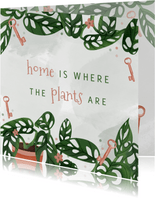 Felicitatiekaart nieuwe woning met planten