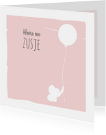 Felicitatiekaarten - Felicitatiekaart olli roze