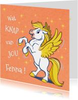 Felicitatiekaart paardje Florian - A