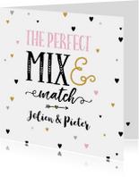 Felicitatiekaart perfect mix