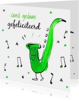 Felicitatiekaart Saxofoon