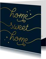 Felicitatiekaart sweet home