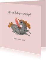 Felicitatiekaart Unicorn Meisje