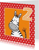 Verjaardagskaarten - Felicitatiekaart voor 2 jaar