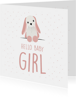 Felicitatiekaart voor de geboorte van een meisje