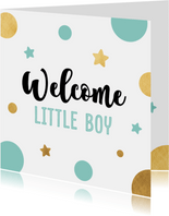 Felicitatiekaart welcome little boy