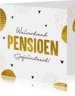 Felicitatiekaart welverdiend pensioen