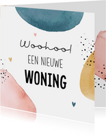 Felicitatiekaart woohoo nieuwe woning