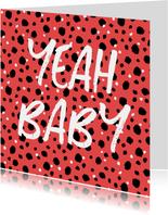 Felicitatiekaart zwanger hip patroon confetti