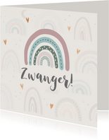 Felicitatiekaart zwanger - Regenboogje