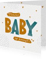 Felicitatiekaart zwangerschap Hoera, baby op komst