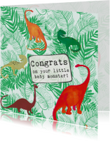 Felicitatiekaartje geboorte Dino