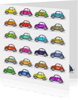Fiat 500 kaart kleurrijk 24