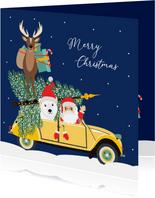 Fijne feestdagen vanuit deze grappig kerst eend