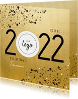 Firmen-Neujahrskarte Goldoptik Jahreszahl