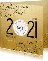 Firmen-Weihnachtskarte Goldoptik Jahreszahl