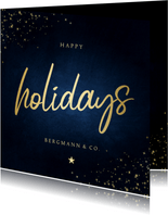 Firmen-Weihnachtskarte 'Happy Holidays'