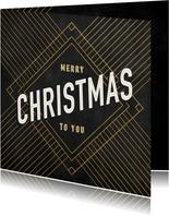 Firmen-Weihnachtskarte international in Art Deco-Stil