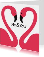 Flamingo Valentijnskaart perfect