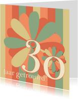 Jubileumkaarten - flower30 jaar getrouwd