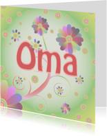 Verjaardagskaarten - flowerpower-oma