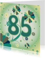 Verjaardagskaarten - flowerpower2 85 jaar