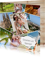 Foto collage kaart - vakantie