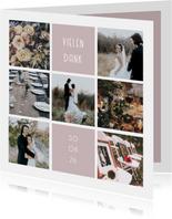 Foto-Collagekarte kleine Quadrate