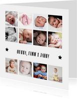Foto-Collagekarte zwölf kleine Fotos