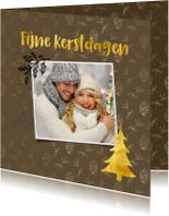 Foto kerstkaart met een sfeervolle achtergrond