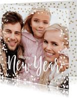 Foto nieuwjaarskaart confetti