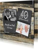 Fotocollage huwelijksjubileum 40 jaar getrouwd