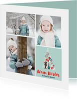Fotocollage Kerstboom dieren