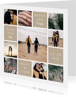 fotocollage met 9 foto's en vlakken