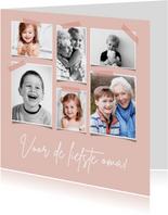 Fotocollage stijlvolle kaart voor oma