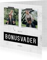 Fotokaart beste bonusvader ever met 2 foto's